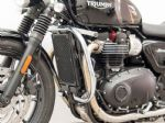 Triumph Street Twin, T100, T120 Bonneville. Fehling Crash Bars. Chrome or Black (70G/74G/75HW) 2017on